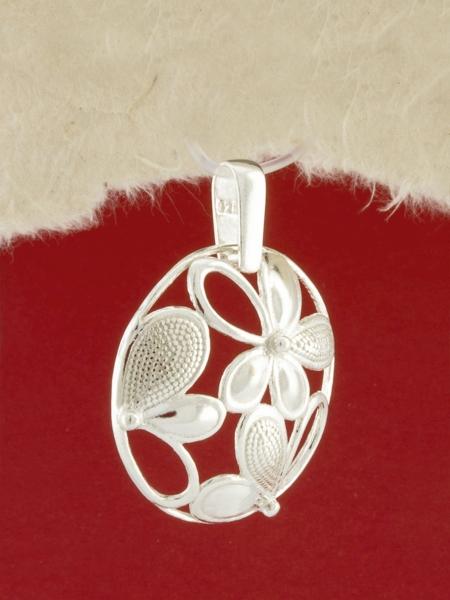 Сребърен медальон - P180780