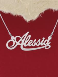 """Сребърно колие с надпис """"Alessia"""""""