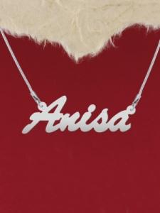 """Сребърно колие с надпис """"Anisa"""""""