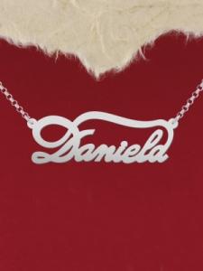 """Сребърно колие с име """"Daniela"""""""