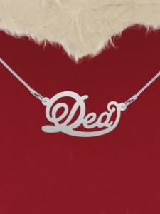 """Сребърно колие с име """"Dea"""""""