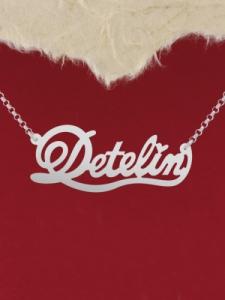 "Сребърно колие с име ""Detelin"""
