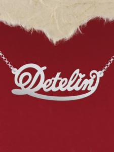 "Сребърно колие с име ""Detelin 2"""