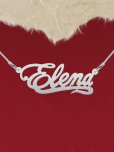 """Сребърно колие с име """"Elena"""""""