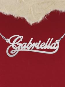 """Сребърно колие с име """"Gabriella"""""""