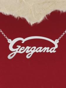 "Сребърно колие с име ""Gergana"""