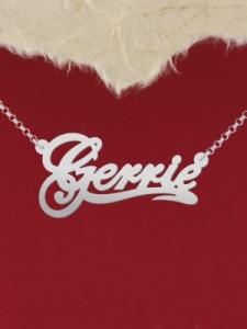 "Сребърно колие с име ""Gerrie"""