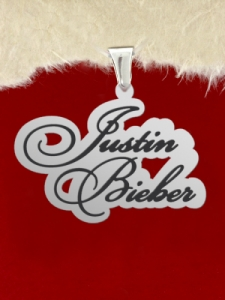 "Сребърен медальон  ""Justin Bieber"""