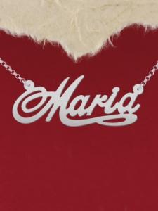 """Сребърно колие с име """"Maria 2"""""""