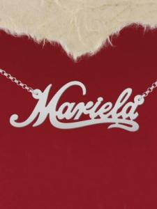 """Сребърно колие с име """"Mariela"""""""