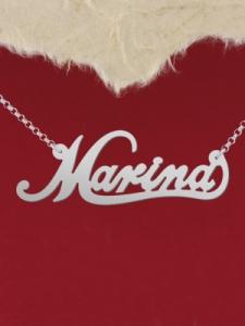 """Сребърно колие с име """"Marina"""""""