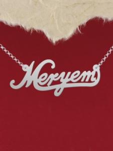 "Сребърно колие с име ""Meryem"""