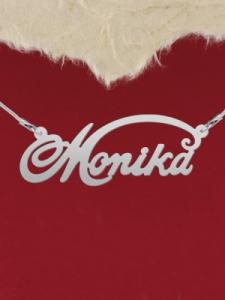"""Сребърно колие с име """"Monika"""""""