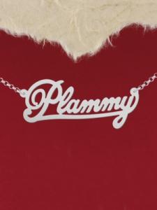 "Сребърно колие с име ""Plammy"""
