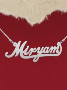 "Сребърно колие с име ""Miryam"""