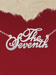 """Сребърно колие с име """"The Seventh"""""""