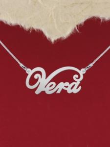 """Колие от сребро с име """"Vera"""""""
