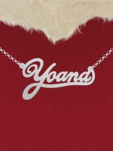 """Сребърно колие с име """"Yoana"""""""