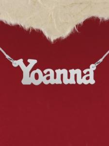 """Колие от сребро с име """"Yoanna"""""""