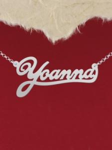"""Колие от сребро с име """"Yoanna 2"""""""