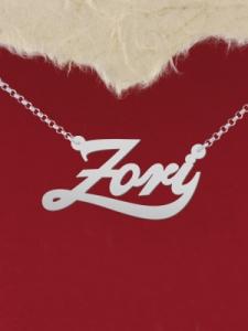 """Колие от сребро с име """"Zori"""""""