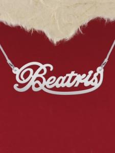 """Колие от сребро с име """"Beatris"""""""