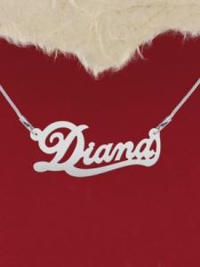 """Сребърно колие с име """"Diana"""""""