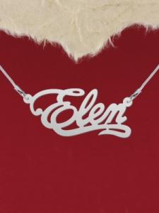 """Сребърно колие с име """"Elen"""""""