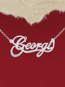 """Сребърно колие с име """"Georgi"""""""