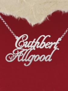 """Сребърно колие с име """"Guthbert Allgood"""""""