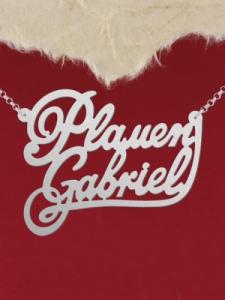 """Колие от сребро с име """"Plamen Gabriel"""""""