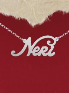 """Сребърно колие с име """"Neri"""""""