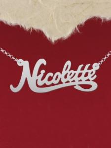 """Колие от сребро с име """"Nicolette"""""""