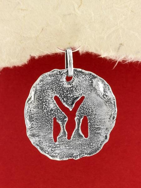 Сребърен медальон- ръчно изработен - SP32