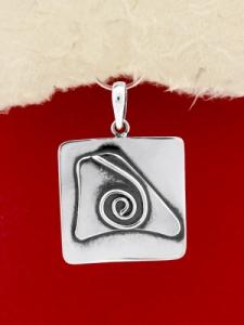Сребърен медальон- ръчно изработен - SP34