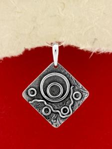 Ръчно изработен сребърен медальон - SP39