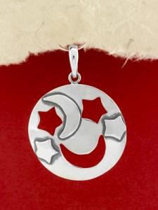 Ръчно изработен сребърен медальон - SP46