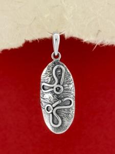Ръчно изработен сребърен медальон - SP57