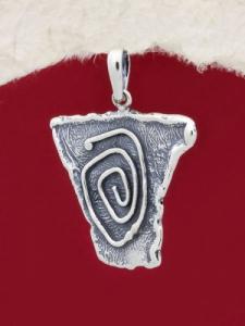 Ръчно изработен сребърен медальон - SP65