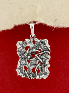 Ръчно изработен сребърен медальон - SP69