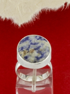 Сребърен пръстен - RKWS3A -Син кварц
