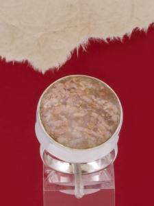 Сребърен пръстен - RKWS3A - Розов Мъхов Ахат