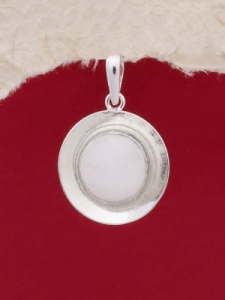 Сребърен медальон - PKWS27 - Млечен Кварц