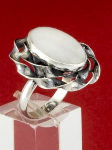 Сребърен пръстен - RKWS69 - Млечен Кварц