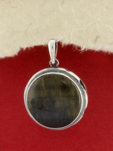Сребърен медальон - PKWS88 - Тигрово око
