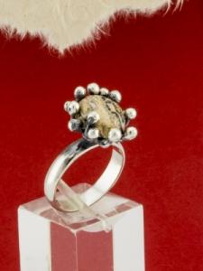 Сребърен пръстен - RKWS73 - Леопардов Яспис