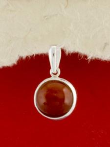 Сребърен медальон - PKWS8 - Червен Яспис