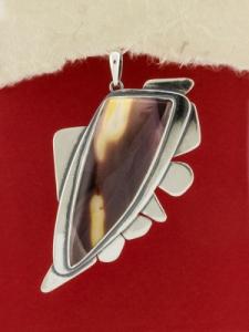 Сребърен медальон - PKWS86 - Мокаит