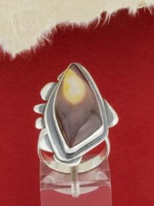 Сребърен пръстен - RKWS86 - Мокаит