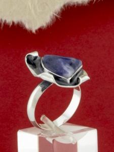 Сребърен пръстен - RKWS89 - Дюмортиерит